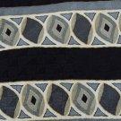GEOFFREY BEENE STRIPE BLACK GREY OLIVE MEN NECK TIE Men Designer Tie EUC