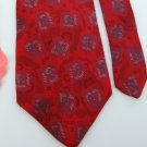 #1A Vintage Envoy Red Green Abstract Narrow Men Neck Tie