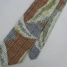 #1A PAVONE Zeidler & Zeidler Brown Mens Made In Italy Neck Tie # 1A