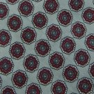 #1A Vintage Lord Taylors Gray Red Floral Silk Narrow Neck Tie