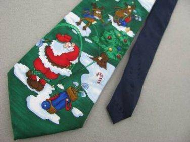 New Yule Greeting Christmas Tree Reindeer Holiday Snowman MensNeck Tie Lot#A