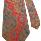 New ALFANI CHEETAH PRINT BROWN RED BLUE MEN NECK TIE Men Designer Tie EUC