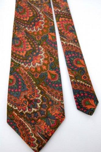 """59"""" Long Passports Pier Import Art Nouveau Neck Tie Krawatte Men Designer EUC"""