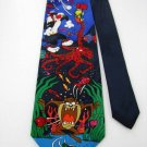 LOONEY TUNES MARVIN BUGS SILVESTER TAZ BLACK BLUE Neck Tie Men Designer Tie EUC