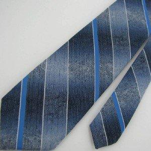 #1A Vintage Narrow Wembley Stripe Blue White Sky  Men Neck Tie Necktie