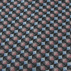 #1A New GIORGIO BRUTINI SQUARE CHECKERED SKY GREY PINK Poly Tie NECKTIE