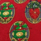 #1A NEW HOLIDAYS Christmas Holiday Ornament OVAL RED GRN TAN MENS Silk Necktie