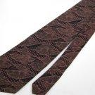 #1A Vintage Narrow Bugatti USA Art Deco Black Pink  Silk Necktie Neck Tie