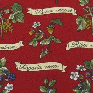 #1A LANDS' END USA BLUE BERRY FLORAL RED GREEN  BROWN Men Silk Neck Tie Necktie