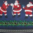 #1A New HOLIDAYS Christmas Santa Holiday Ornament NAVY GREEN RED  Necktie Tie