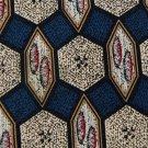 STEWART HALL SHAPES BLUE TAN RED GREY SILK NECK TIE Men Designer Tie EUC