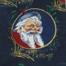 #1A NEW JINGLE BELLS Christmas Santa Holiday  Ornament NAVY WHITE  Necktie Tie