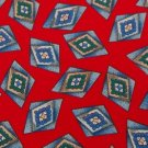 #1A NWT WEMBLEY RED BLUE GREEN DIAMOND SILK MEN NECK TIE Necktie