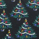#1A NEW AMERICAN TRADITION Christmas Tree Ornament BLACK GREEN Silk Necktie Tie