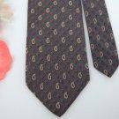 USA Seller Vtg Pierre Cardin Gray Red Paisley Narrow Men Neck Tie Excellent