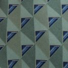 New BILL BLASS OLIVE GREEN DIAMOND PATTERN MEN NECK TIE Men Designer Tie EUC