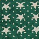 ABERCROMBIE & FITCH STARS Polka DOT GREEN White Neck Tie Men Designer EUC