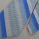 Vintage Sears Stripe Plaid Blue BlackTexture 70s 60s 1970 Mens Neck Tie  #EV