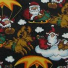 #1A New Christmas Santa Reindeer Sleigh CLOUD STAR BLACK WHITE RED MENS Necktie