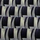 #1A New Pierre Cardin Wave Stripe Indigo OldLace Black  MENS Neck Tie NECKTIE
