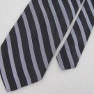 DKNY Woven Black Silk Mens Stripe Neck Tie Men Designer Tie EUC