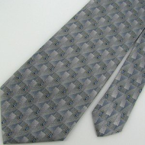 #1A New ARROW STRIPED RECTANGLE ZIG-ZAG GRAY BLUE SILVER  MEN Neck Tie NECKTIE