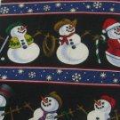 #1A New ST. NICHS TIE SHOP USA CHRISTMAS SNOWMAN BLACK BLUE WHITE RED  NECK TIE