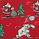 #1A NWT BASICS CROFT & BARROW USA CHRISTMAS SANTA TREE RED MEN Neck Tie NECKTIE