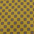Silk Land's End Woven Square Flower Gold Red Blue Neck Tie Men Designer Tie EUC
