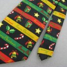 New Keith Daniels Christmas Santa Gift Holiday Bell Candy Cane Neck Tie Lot#A