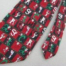 #1A New Cool Yule Christmas Santa Snow Holiday Checkered Ornament Men Neck Tie