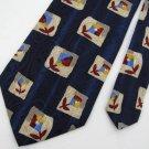 New Evan Picone USA Made Flower Floral Blue Red Silk Neck Tie Men Designer Tie