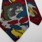 #1A SAVE THE CHILDREN THROUGH THE YEARS MAROON NAVY  Men SILK Neck Tie Necktie