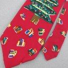 Save the Children Xmas Gifts Tree Red Silk Dress Neck Tie NWT Men Designer Tie