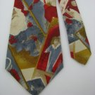 #1A NEW GEOFFREY BEENE USA Christmas Santa TOYS HOLIDAY RED BLUE  Necktie Tie