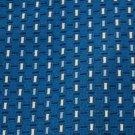 GIESSO WOVEN RECTANGLES BLUE WHTIE NAVY NECK TIE Men Designer Tie EUC