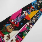 LOONEY TUNES TAZ SILVESTER DAFFY BUGS BLACK SILK Neck tie Men Designer Tie EUC