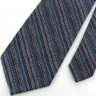 Vintage Wemlon Wembley Stripe Blue Red Texture 60s 70s 1970 Mens Neck Tie  #EV