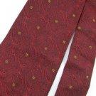 Vintage Wembley Texture Art Nouveau Vivid Red Blk 60s Men Neck Tie Necktie  #EV