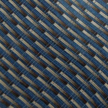 MURANO STRIPE BROWN BLUE GREY SILK MEN NECK TIE Men Designer Tie EUC