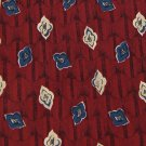 PERRY ELLIS RED BLUE KHAKI FLORAL DESIGN Men Neck Tie Men Designer Tie EUC
