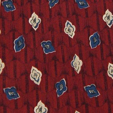 PERRY ELLIS RED BLUE KHAKI FLORAL DESIGN Men Neck Tie Men Designer Tie EUC