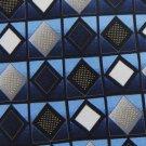 New DI MOGGIO NavyBlue GRAY BLUE DIAMOND SILK NECK TIE Men Designer Tie