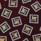 CHAPS RALPH LAUREN MAROON BLUE YELLOW SILK MEN NECK TIE Men Designer Tie EUC