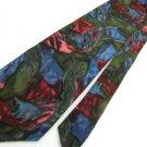 #1A J. GARCIA USA ABSTRACT OLIVE GREY BLUE MAROON Men SILK Neck Tie Necktie 4379