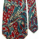 #1A MONZINI COLLECTION  Blue MAROON Creame SILK Tie NECKTIE Krawatte Cravatt