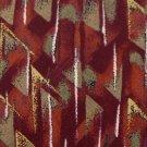 CROFT & BARROW ORANGE RED OLIVE SILK MEN NECK TIE Men Designer Tie EUC