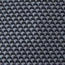 CLUB ROOM WOVEN GREY BLACK 100% SILK TIE NECK TIE Men Designer Tie EUC