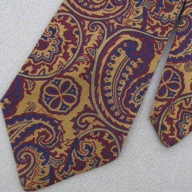 HAROLD POWELL Woven Silk Mens Dress Art Nouveau Neck Tie Men Designer Tie EUC