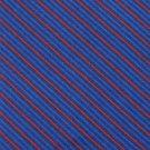 ORCHID STRIPES RED NAVY BLUE NARROW MEN NECK TIE Men Designer Tie EUC